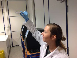 Oslo University Hospital, control of a HiSeq flowcell purity before use