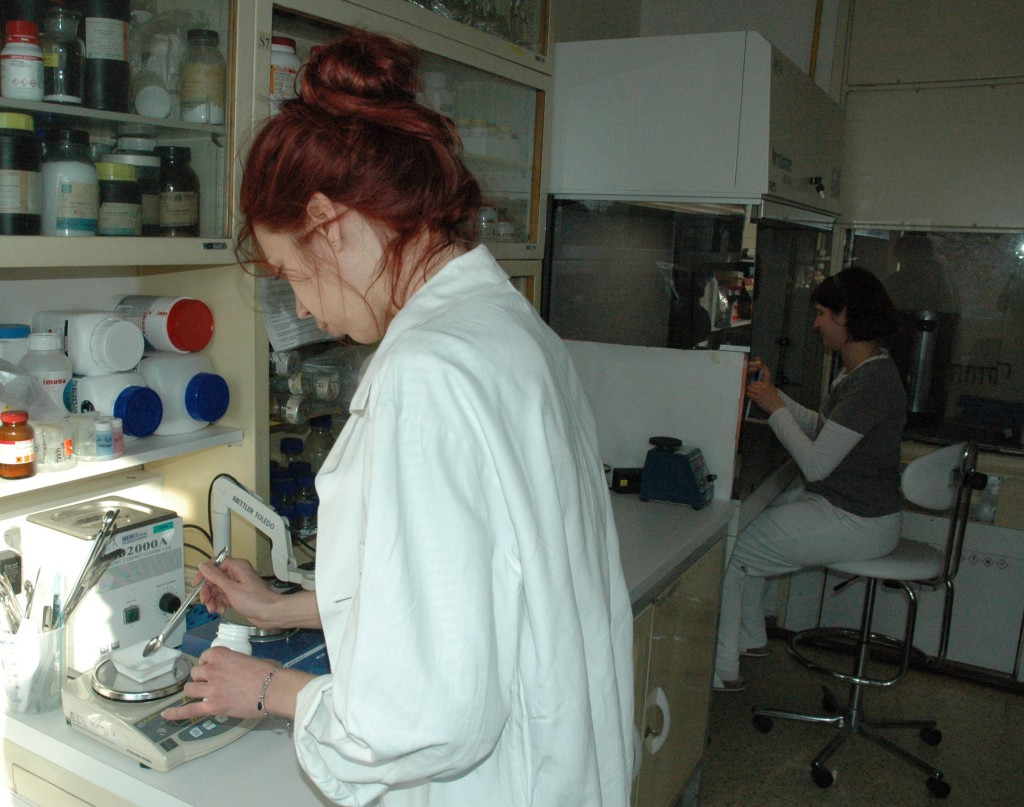Institute of Microbiology, preparation of agarose gels