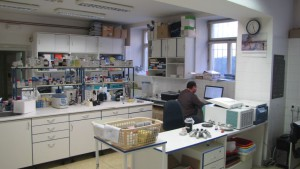 Laboratory at the Faculty of Science, Prague